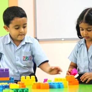 Students Playing Blocks