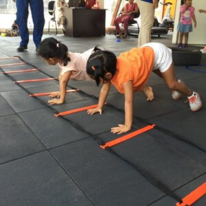 Kids doing Push Ups at Play by Vitality