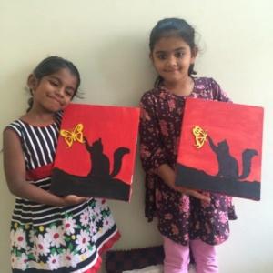 Kids showing their creativity