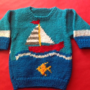 Sail Boar Sweater by Cheerful Handknits