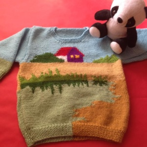 Baby Sweater by Cheerful Handknits