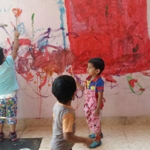 Creativity time at Karve Preschool