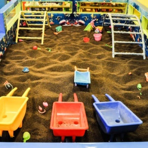 Beach area and Sandpit at Madagascar Kids