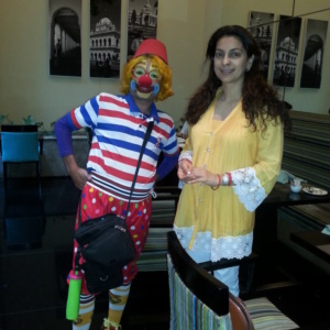 Sanjay the Clown with Juhi Chawla