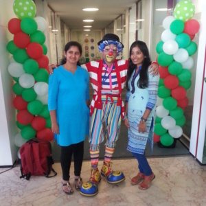 Clown at Birthday Party