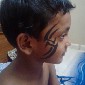 Air Brush Tattoo on Face