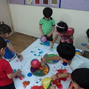Balloon Painting at iLeap