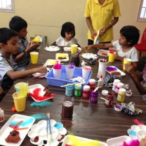 Craft Activity at Art Blend Cafe