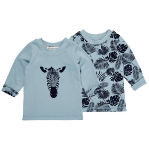 Zebra Pattern Reversible Shirt for Boys