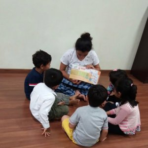 Kids Engaged during Story telling session