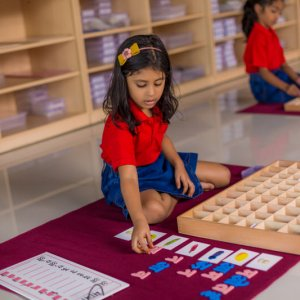 Learning Hindi Alphabets at The Mutha School