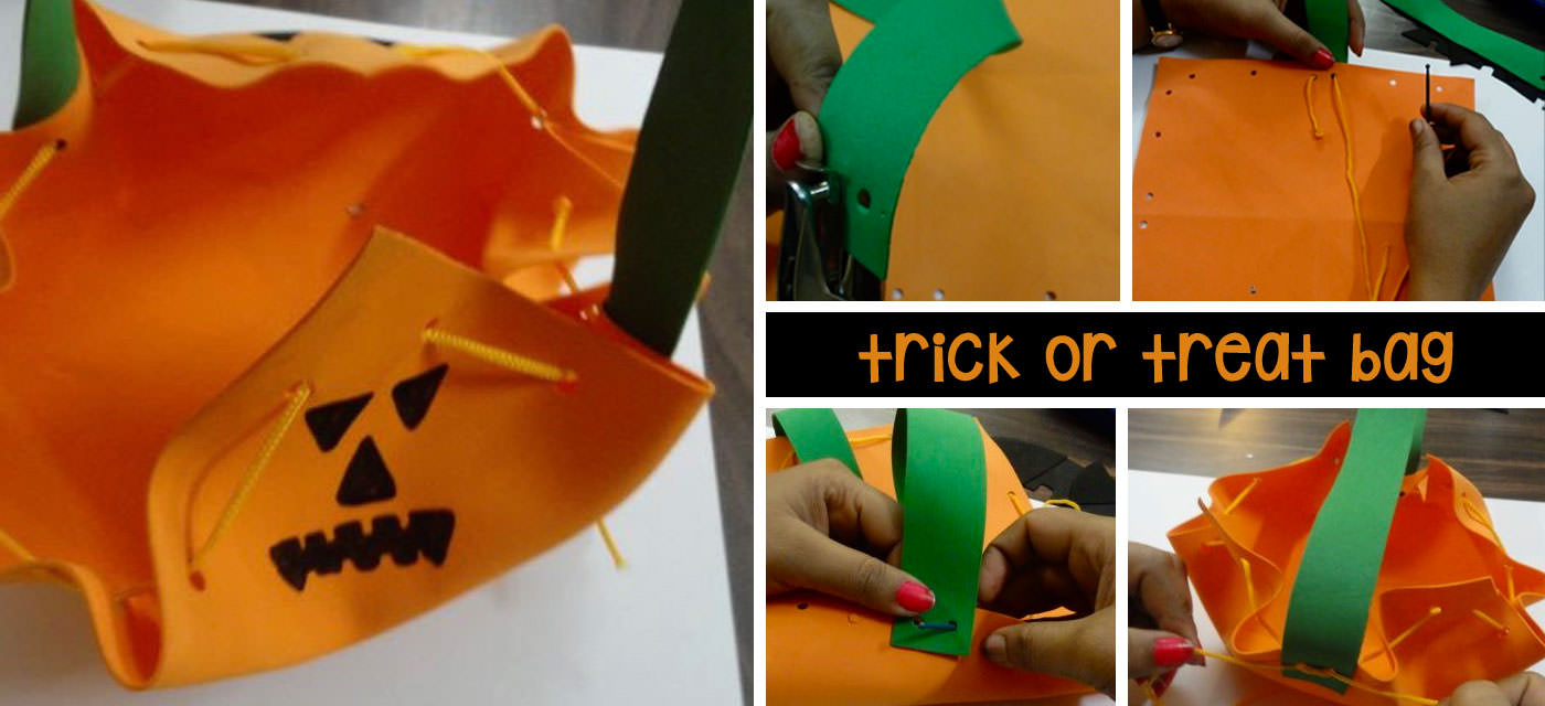 Easy DIY steps to make your trick or treat bag for Halloween Cover Image