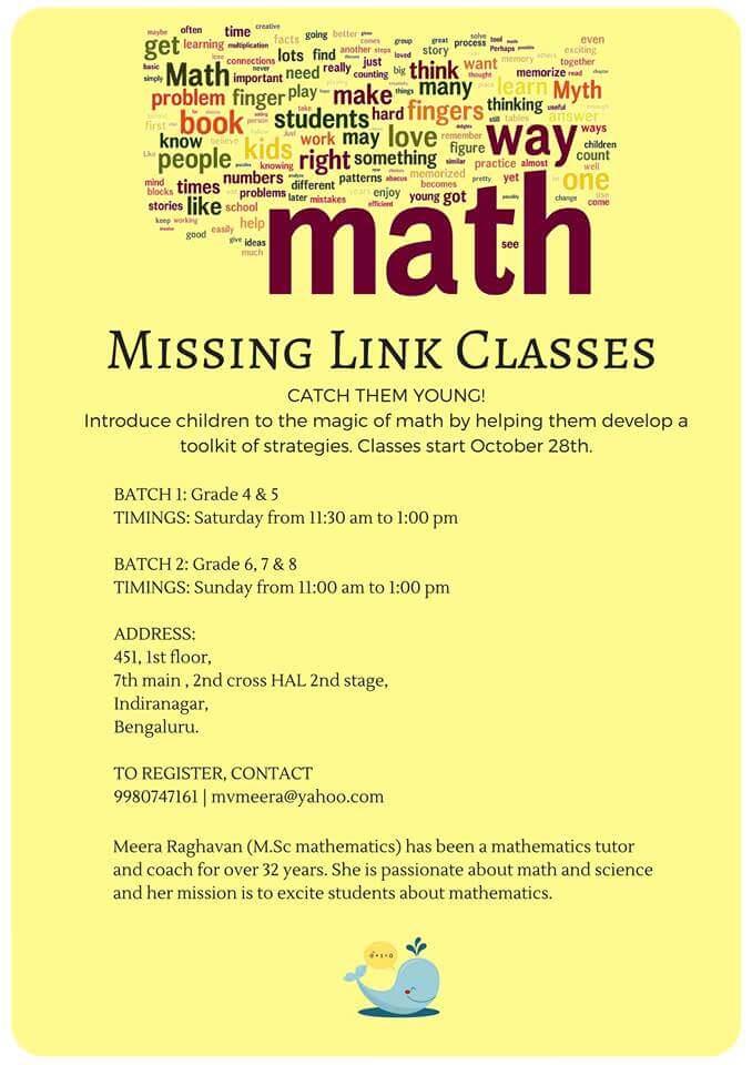 Math Classes, Indiranagar, Bangalore