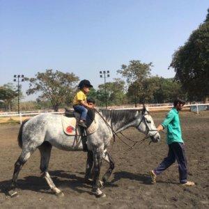 Kids enjoying Horse Riding