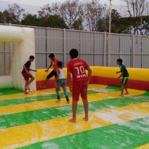Kids Playing at Soap Football