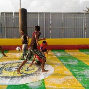 Soap and Football fun