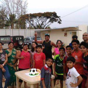 Birthday Celebration at Soap Football
