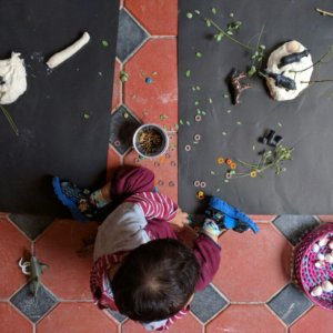 Toddlers enjoying Gardening at The Atelier