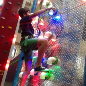 Light Up Climber at Clip 'n Climb