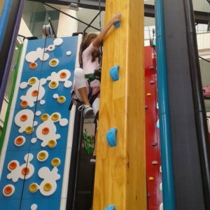 Kids enjoying the challenging climb