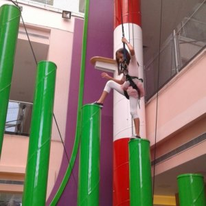 Challenging Climb at Clip 'n Climb