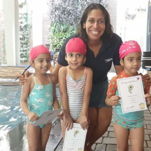 NIsha Millet with her Toddler Students