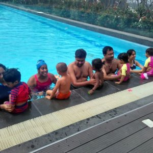 Parent and Toddlers at the Swimming Program