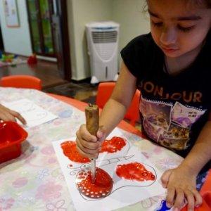 Art activity at Storytelling session at The Rainbow Villa