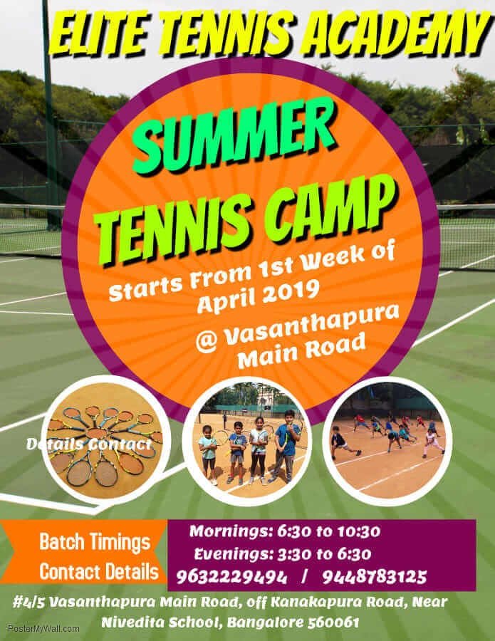 Tennis Summer Camp 2019 Cover Image