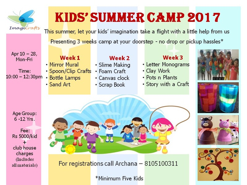 Art And Craft Summer Camp In Bangalore