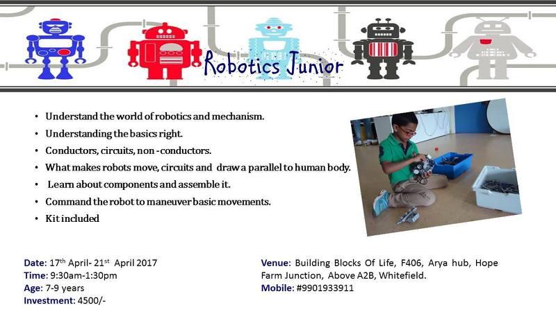 Robotics Workshop, Whitefield, Bangalore