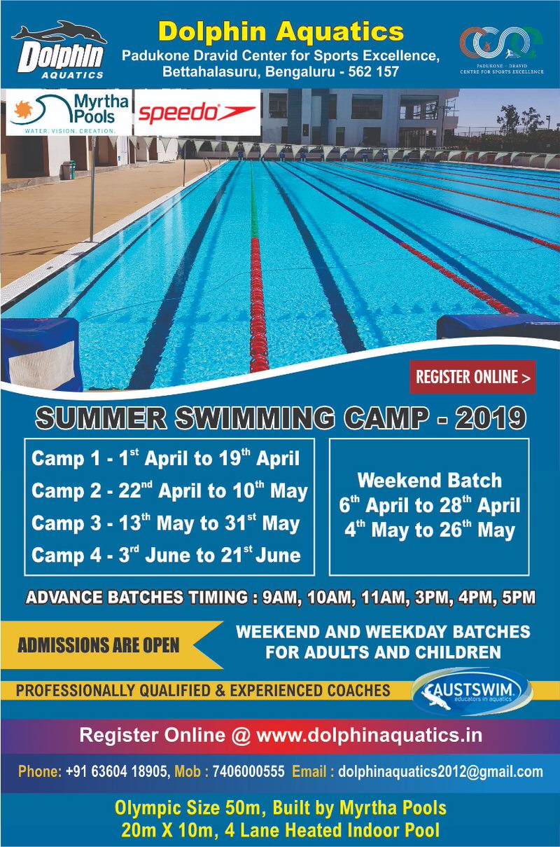 Dolphin Aquatics Swimming Summer Camp 2019 Cover Image