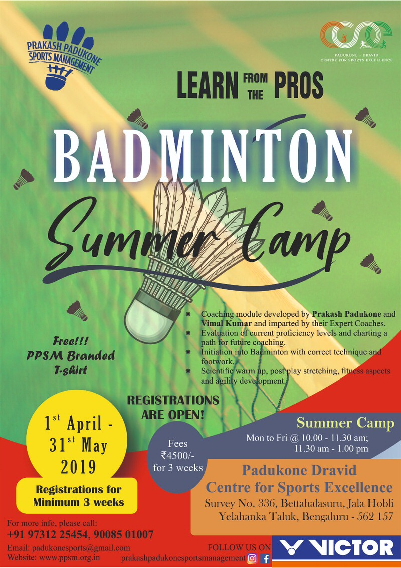 Prakash Padukone Sports Management Summer Badminton Program Cover Image
