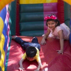 Kids enjoying in the Bouncy Castle