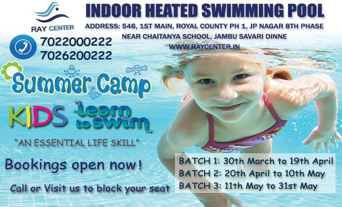 Ray Centre Swimming Summer Camp 2018 Cover Image