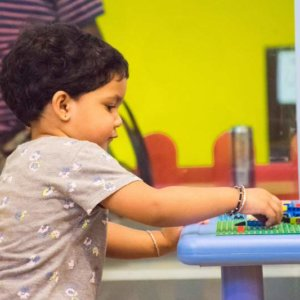 Kids enjoying Lego Building at Awesome Place