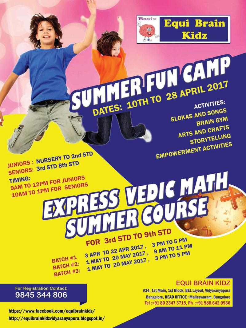 Vedic Math Summer Course Cover Image