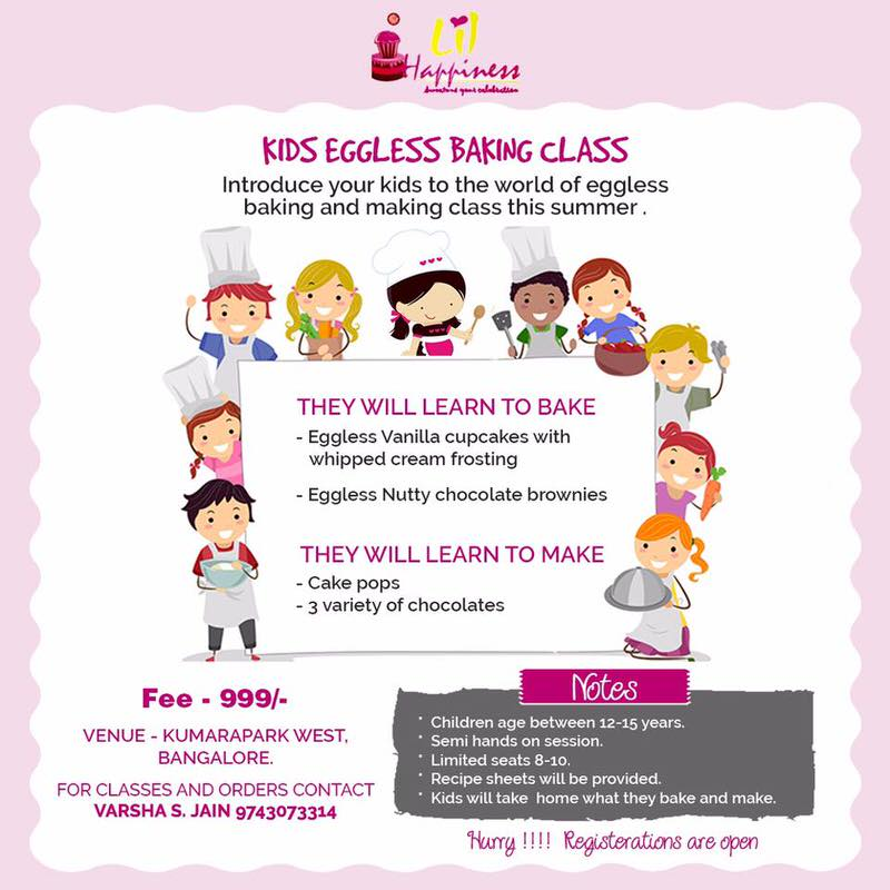 Kids eggless workshop kumara park west bangalore introduce your kids to the world of eggless baking and making class this summer stopboris Images