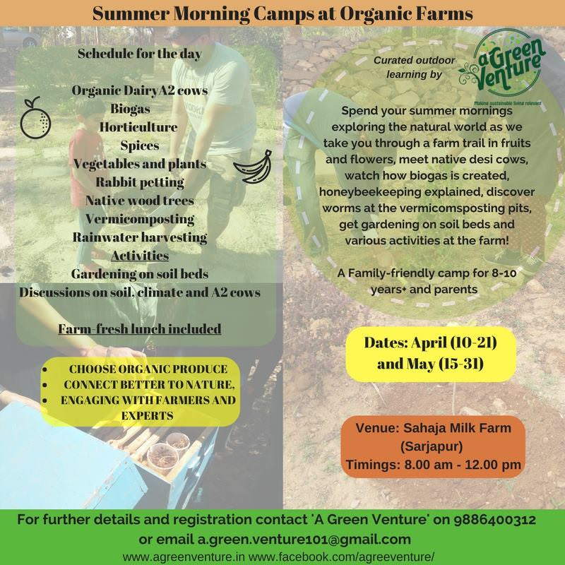 Summer Camp at Sarjapur Organic Farm Cover Image