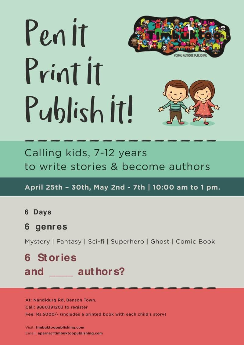 examples of creative writing for kids