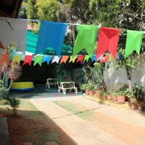 Outdoor space at Cubby Tales Heabbal