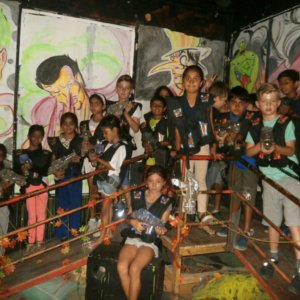 Kids at Lazer Castle