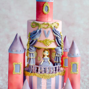 Sofia Castle Themed Cake