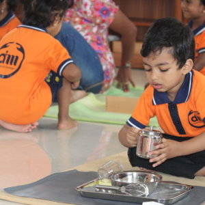 Kids lunch time at AIM Montessori