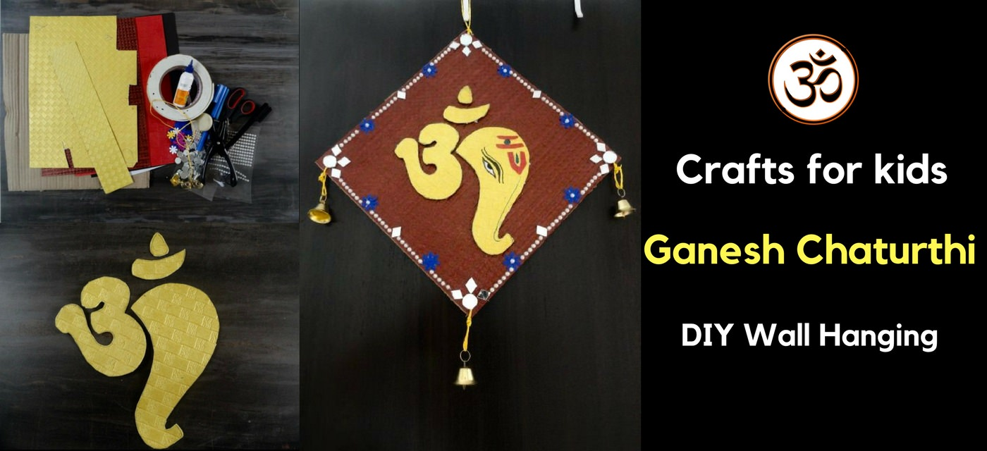 Ganesh Chaturthi crafts: DIY wall hanging Cover Image