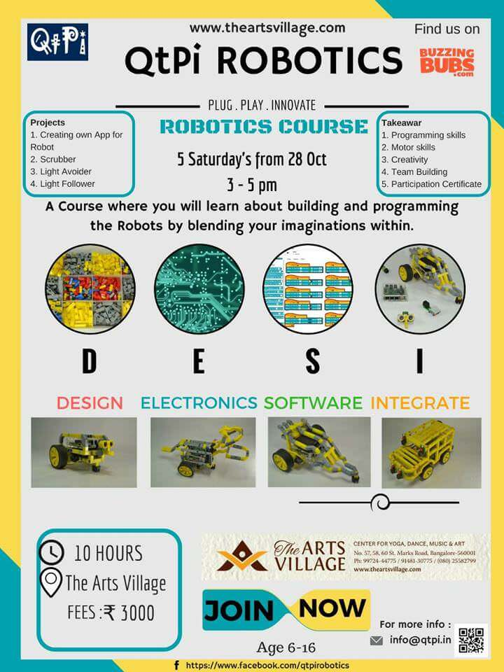 Qtpi Robotics Workshop St Marks Road Bangalore