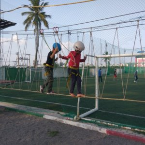 Zipping at Playgym Marathahalli