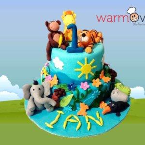 Jungle Theme Cake by WarmOven