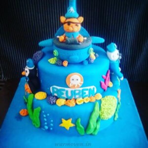 Octonots Theme Cupcake