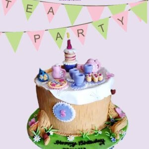 Tea Party Theme Cupcake
